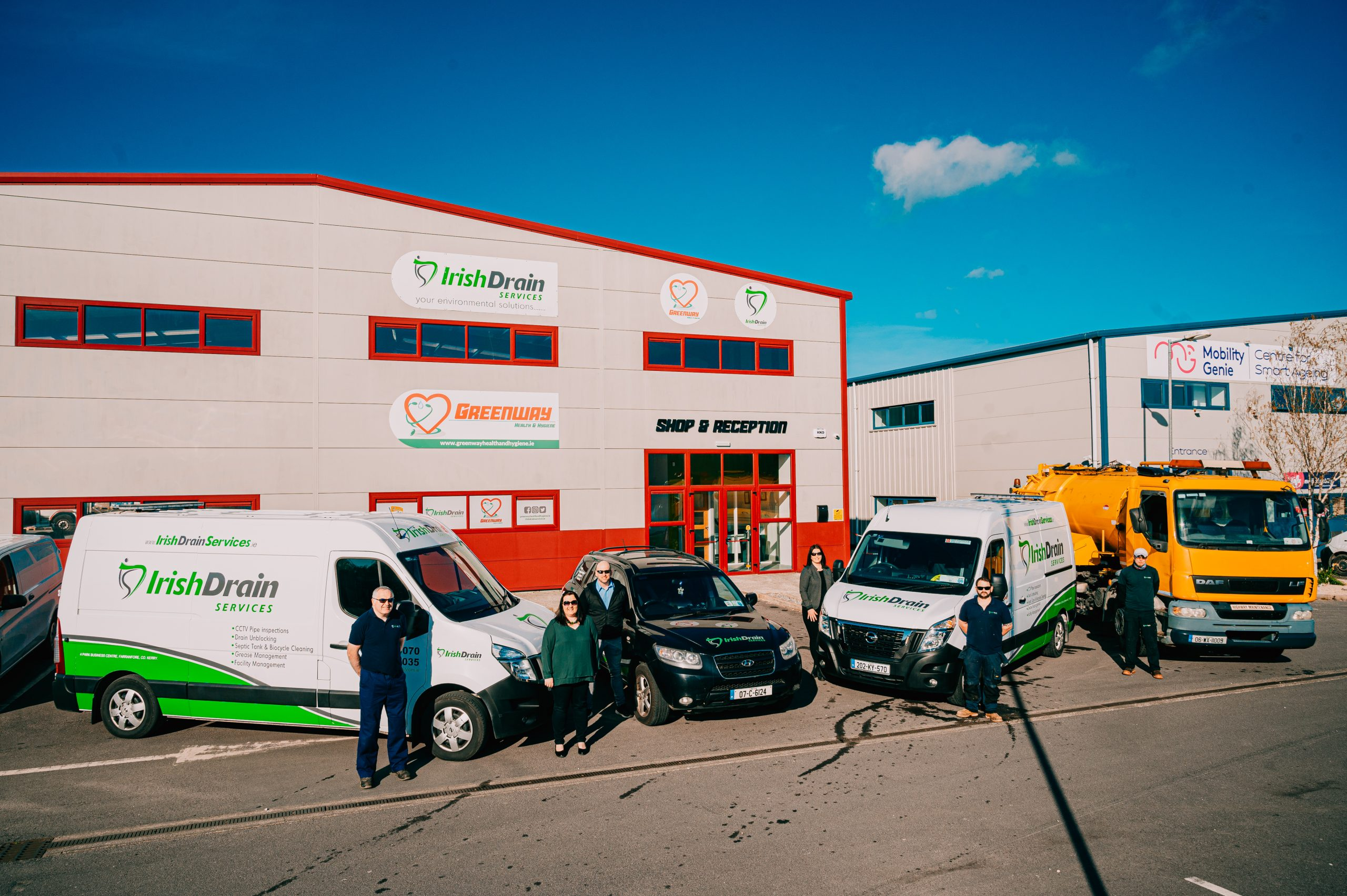 Irish Drain Services - one of Ireland's most committed residential, commercial & industrial drain cleaning companies and we are based in the heart of Kerry!